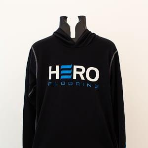 Black long sleeve shirt with hoodie