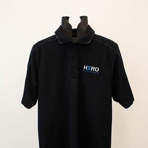 Black Polo shirt with logo